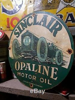 Sinclain vintage old gas oil sign rare