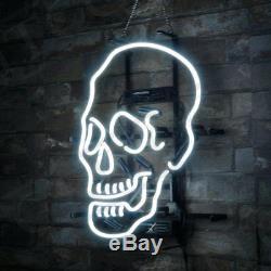 Skull Shape Neon Sign Porcelain Store Beer Boutique Deco Gift Pub Custom Vintage