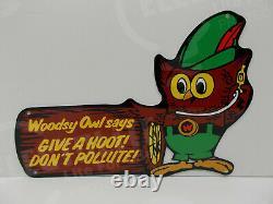 Smokey Bear 1/8 Steel Heavy Enamel Woodsy Owl Give A Hoot 10 High-14 Wide