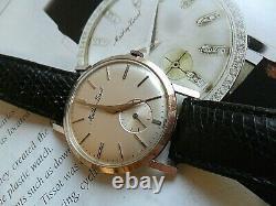 Solid 14k Gold Vintage 1960's Men's Mathey Tissot Swiss Dress Watch SIGNED