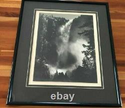 Special Edition Ansel Adams Photo Of Yosinite Bridel Veil Falls