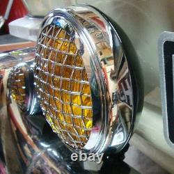 Spot Light Amber with vintage mesh grille light sign classic car truck AAC152