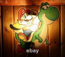 Super Mario World 1992 Nintendo Vintage Lamp Sign SNES NES Yoshi Collectible