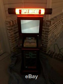 Super Nintendo Kiosk Display, Vintage Nintendo, Snes Sign, Non Working, Rare