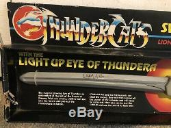 Thundercats Vintage Original Sword Of Omens Signed-larry Kenney Voice Of Lion-o
