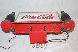 Ultra Rare Vintage c. 1932 Drink Coca Cola In Bottles 16 Neon Lighted Metal Sign