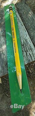 VERY RARE! HUGE VINTAGE Eberhard Faber Mongol 482 Pencil Sign Metal Tin Litho