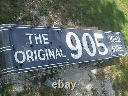 VINTAGE 905 LIQUOR PORCELAIN sign neon 16