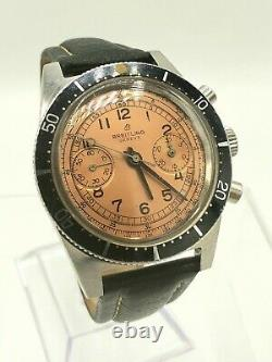 VINTAGE BREITLING CHRONOGRAPH TRIPLE SIGNED With CHAMPAGNE DIAL JUST SERVICED