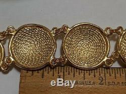 VINTAGE CHRISTIAN DIOR GOLD TONE SIGNED Chr. Dior BRACELET