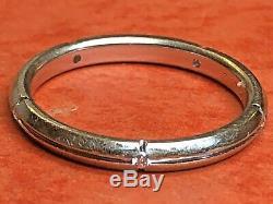VINTAGE ESTATE 18K GOLD DESIGNER SIGNED TIFFANY & Co WEDDING BAND ANNIVERSARY