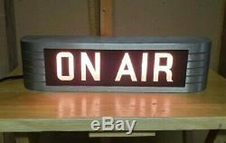 VINTAGE GENUINE RCA ON AIR Recording Radio Studio Warning Light Sign MI-11717