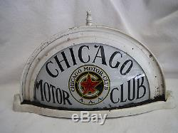Vintage Rare Chicago Motor Club Aaa Car Rooftop Sign