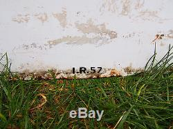 VINTAGE RARE ORIGINAL 1957 ASHLAND OIL PORCELAIN ENAMEL METAL SIGN 2 SIDED 8x5