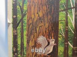 VINTAGE RARE Smokey the Bear Poster 1958 Forest Fire Prevention Sign