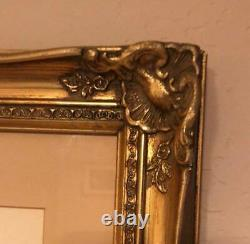 VINTAGE SIGNED ETCHING by SALVADOR DALI AUTUMN WOODEN FRAME/GLASS