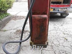 VINTAGE WAYNE 866 FARM FRESH ATLANTIC WHITE FLASH GAS PUMP TEXACO MOBIL SIGN