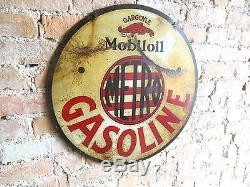 Vtgrare Mobiloil Metro Gargoyle Double Sided Non Porcelain Gas Oil Sign