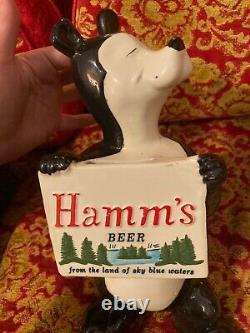 VTG 60's Red Wing Hamm's Beer Bear Sascha Piggy Bank Ad Advertising Sign Ceramic