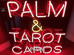 VTG Large Palm Tarot Cards Reading Neon Sign Oddities Gypsy Fortune Teller
