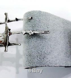 VTG Signed Brutalist Sterling Silver Modernist Pin Brooch Artisan Studio Juhls