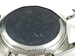 VTG Wakmann 20 ATM Chronograph, Gorgeous Dial! Triple Signed. 37.9mm