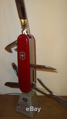 Victorinox Original Swiss Army Knife Big Store Motorized Moving Display Sign Vtg