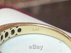 Vintage 14k Gold Diamond Ring Engagement Wedding Signed Zei Kay Princess Cut