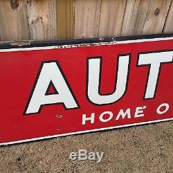 Vintage 16' Western Auto Associate Store Dealership Porcelain Sign Gas Oil