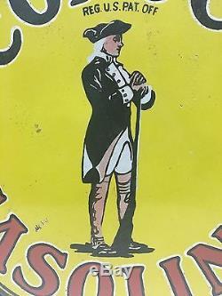 Vintage 1920s Conoco Gasoline and Oil Porcelain Enamel Sign