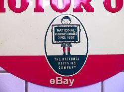 Vintage 1930s Motor Oil Sign Enarco White Rose Gasoline Gas Station Old Original