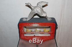 Vintage 1940's Abbey Gun Gallery Penny Arcade Game Metal Trade Stimulator Sign