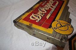 Vintage 1940's Drink Dr Pepper Soda Pop 2 Sided 24 Metal Flange Sign
