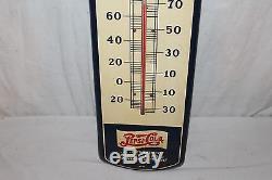 Vintage 1940's Pepsi Cola Double Dot Soda Pop 27 Metal Thermometer SignWorks