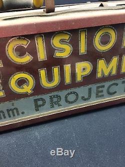 Vintage 1940s Ampro Precision Equipment Neon Sign Advertising Panellit