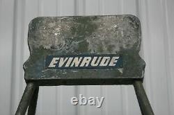 Vintage 1950's EVINRUDE METAL Outboard Boat Motor Engine Stand / SIGN