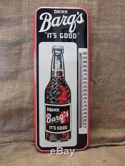 Vintage 1953 Barq Beverage Thermometer Sign NO MERCURY Antique Cola Pop 9276