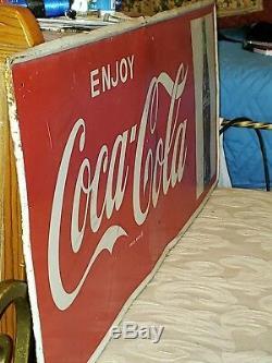 Vintage 1960 enjoy Coca Cola Gasoline and Oil Advertising Matel Sign