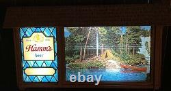 Vintage 1960's Hamm's Beer SCENE-O-RAMA Campfire Waterfall Scrolling Motion Sign
