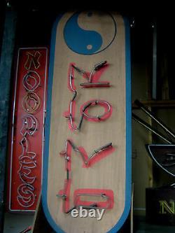 Vintage 1960's KOREAN MASSAGE Neon Sign / Antique collectible