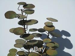 Vintage 1966 Curtis Jere Signed Metal Snails Tree Modernist Metal Sculpture 17