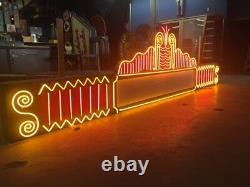 Vintage 1980's HUGE 16 Ft. THEATER MARQUEE Neon Sign Antique movie memorabilia