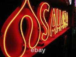 Vintage 1980's SAHARA Neon ANTIQUE sign Miniature Las Vegas Deco / collectable