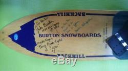 Vintage 1982 Burton Backhill Original Snowboard Signed Very Rare
