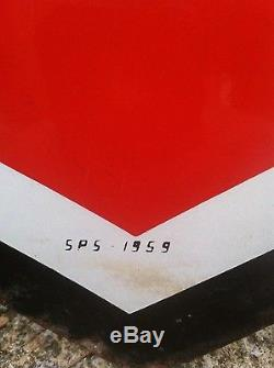 Vintage 48 1959 Phillips 66 double sided porcelain sign