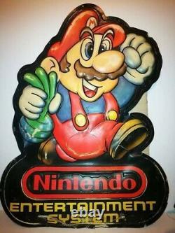 Vintage 80s large store display sign original Nintendo Super Mario Bros 2 NES