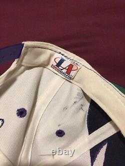 Vintage 90s Signed Phoenix Suns Logo Athletic Sharktooth Snapback Hat NBA