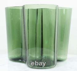 Vintage ALVAR AALTO Savoy Tinted Glass Vase. Signed Numbered RARE Classic Modern
