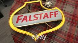 Vintage /Antique Falstaff Beer Neon Sign Works