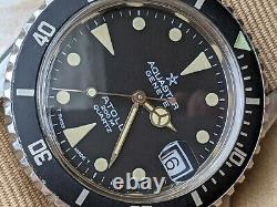 Vintage Aquastar Atoll 200M Diver withMint Dial, Warm Patina, Signed Crown, Serviced